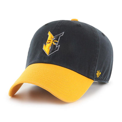 Indianapolis Indians '47 Black/Gold 2-Tone Clean Up Adjustable Cap