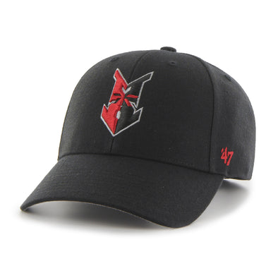 Indianapolis Indians '47 Black Road Wool MVP Adjustable Cap