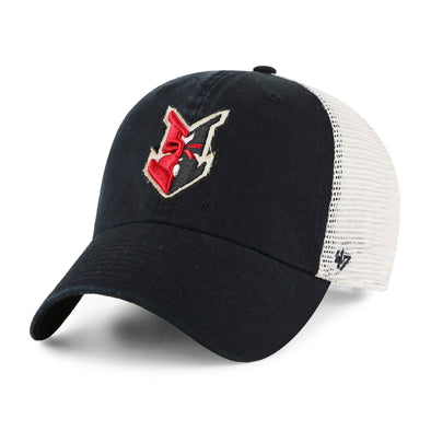 Indianapolis Indians '47 Black Stamper Closer Stretch Fit Cap
