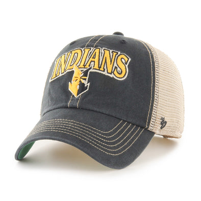 Indianapolis Indians '47 Black/Gold Tuscaloosa Clean Up Adjustable Cap