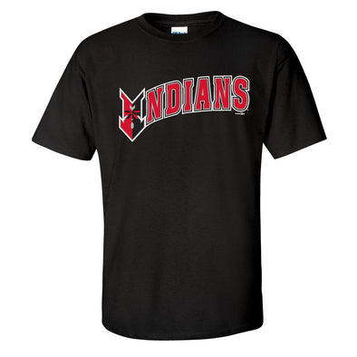 Indianapolis Indians Black Wordmark Tee
