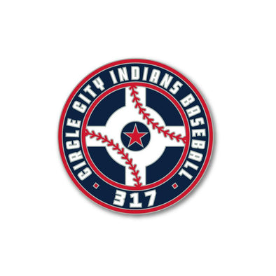 Indianapolis Indians Circle City Official Logo Lapel Pin