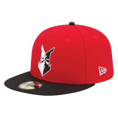 Indianapolis Indians Red/Black New Era Home Authentic 5950 Cap