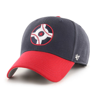 Indianapolis Indians '47 Navy Circle City Sure Shot MVP Adjustable Cap
