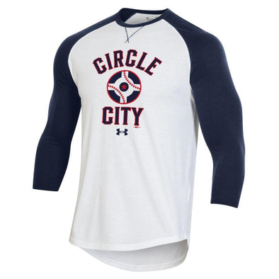 Indianapolis Indians Circle City Under Armour 3/4 Sleeve Raglan Tee