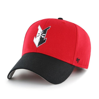 Indianapolis Indians '47 Adult Red/Black Home Cotton Replica Adjustable Cap