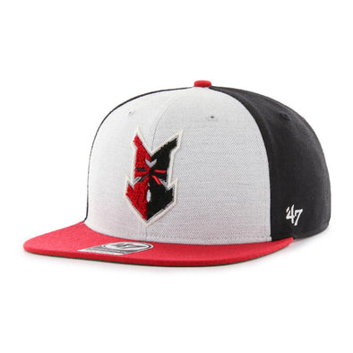 Indianapolis Indians '47 Grey/Black Bromley Captain Snapback Adjustable Cap