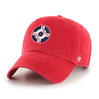 Indianapolis Indians '47 Circle City Red Clean Up Adjustable Cap