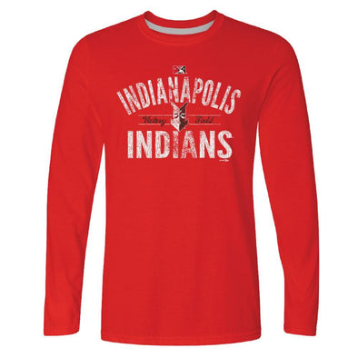 Indianapolis Indians Red Coding Longsleeve Tee