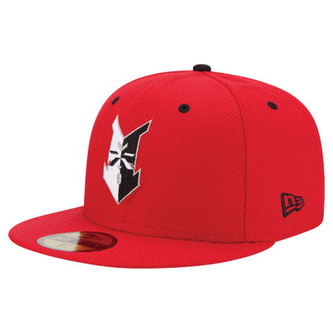 Indianapolis Indians Red New Era Batting Practice Authentic 5950 Cap