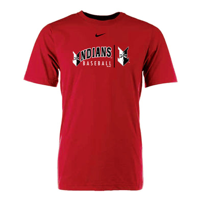Indianapolis Indians Red Nike Clip Cotton Tee