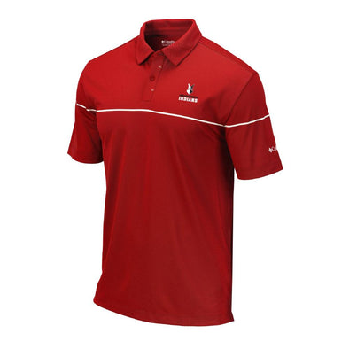 Indianapolis Indians Red Columbia Omni-Wick Breaker Polo
