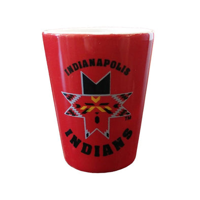 Indianapolis Indians 1.5oz. Red/White Shot Glass