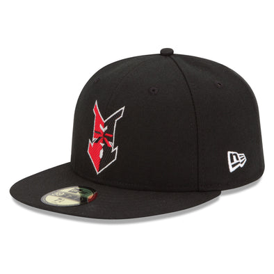 Indianapolis Indians Black New Era Road Authentic 5950 Cap