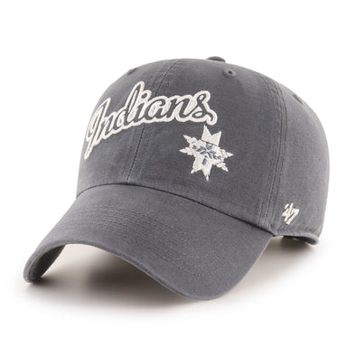 Indianapolis Indians '47 Women's Charcoal Catherine Clean Up Adjustable Cap
