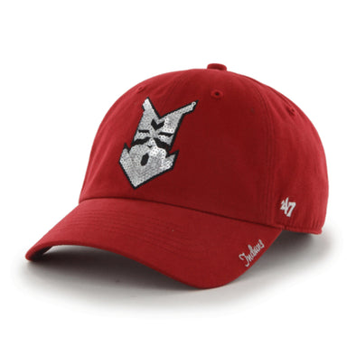 Indianapolis Indians '47 Women's Red Sparkle Clean Up Adjustable Cap