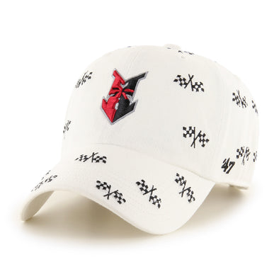 Indianapolis Indians '47 Women's White Confetti Clean Up Adjustable Cap