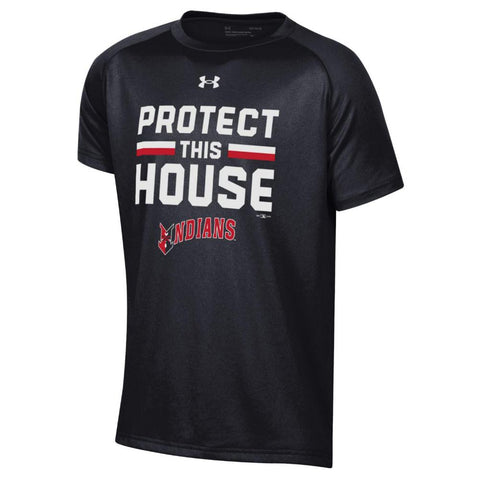 Indianapolis Indians Youth Black Under Armour House Tech Tee