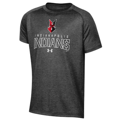 Indianapolis Indians Youth Grey Under Armour Line Tech Tee