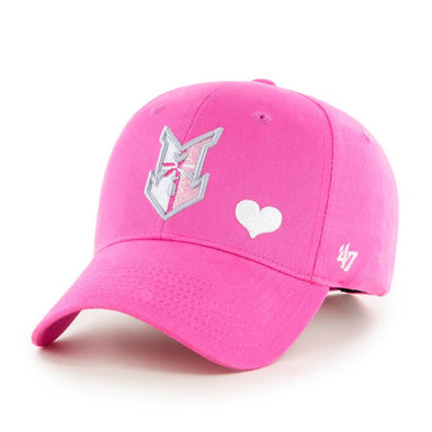 Indianapolis Indians '47 Youth Magenta Sugar Sweet MVP Adjustable Cap
