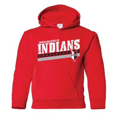 Indianapolis Indians Youth Red Highguard Hood
