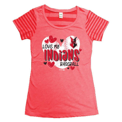 Indianapolis Indians Toddler Red Juniper Striped Tee