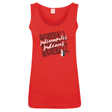 Indianapolis Indians Youth Red Latoya Tank Top