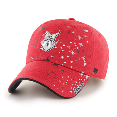 Indianapolis Indians '47 Youth Red Stardust Clean Up Adjustable Cap