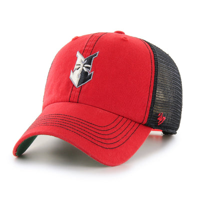 Indianapolis Indians '47 Youth Red Trawler Clean Up Adjustable Cap