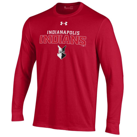 Indianapolis Indians Youth Red Under Armour Block Longsleeve Tee