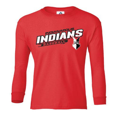 Indianapolis Indians Youth Red Skills Long Sleeve