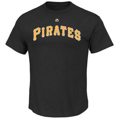 Indianapolis Indians Pittsburgh Pirates Majestic Black Wordmark Tee