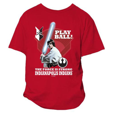 Indianapolis Indians Youth Red Star Wars Rebel Tee