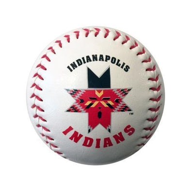 Indianapolis Indians White Indians Logo Ball