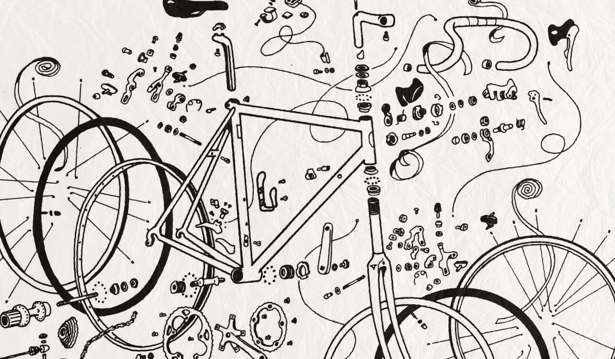 illustration of bicycle schematics