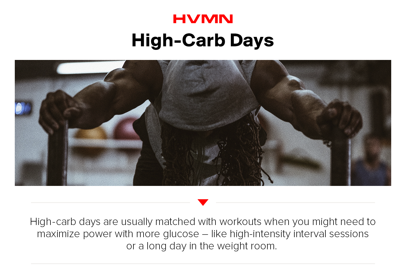 An image of a man at the gym showing how high-carb days can help performance