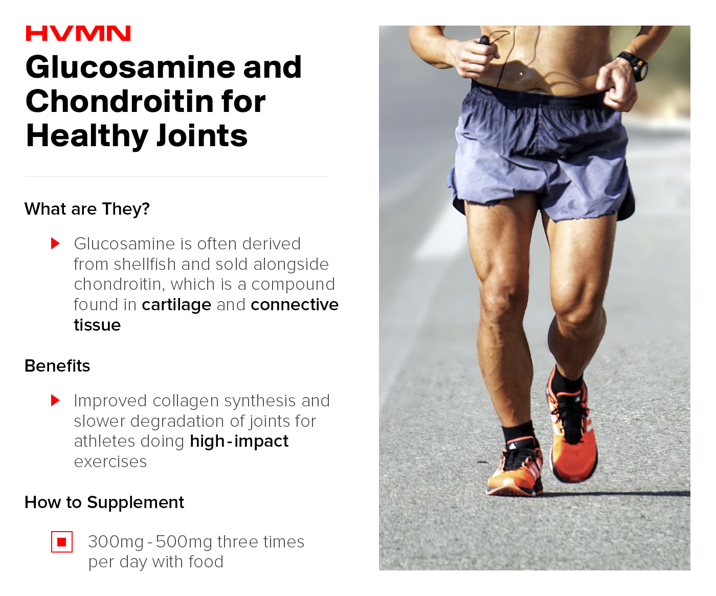A man running on pavement shirtless showing the benefits of glucosamine and chondroitin for healthy joints