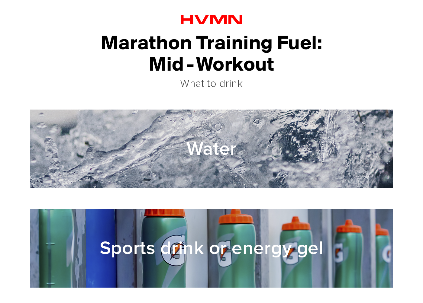 Mid-workout fuel options for marathon training.