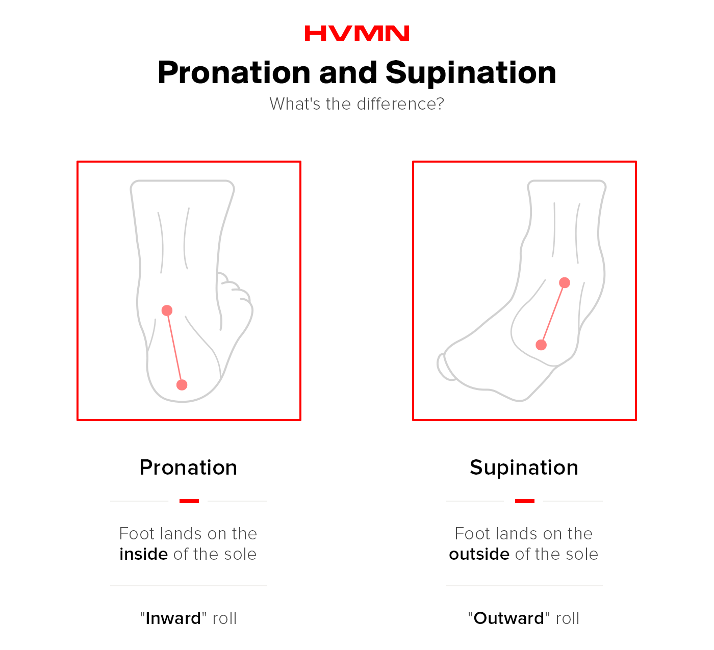 Pronation vs. supination.