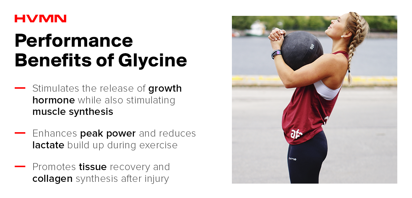 Athletic performance benefits of glycine.