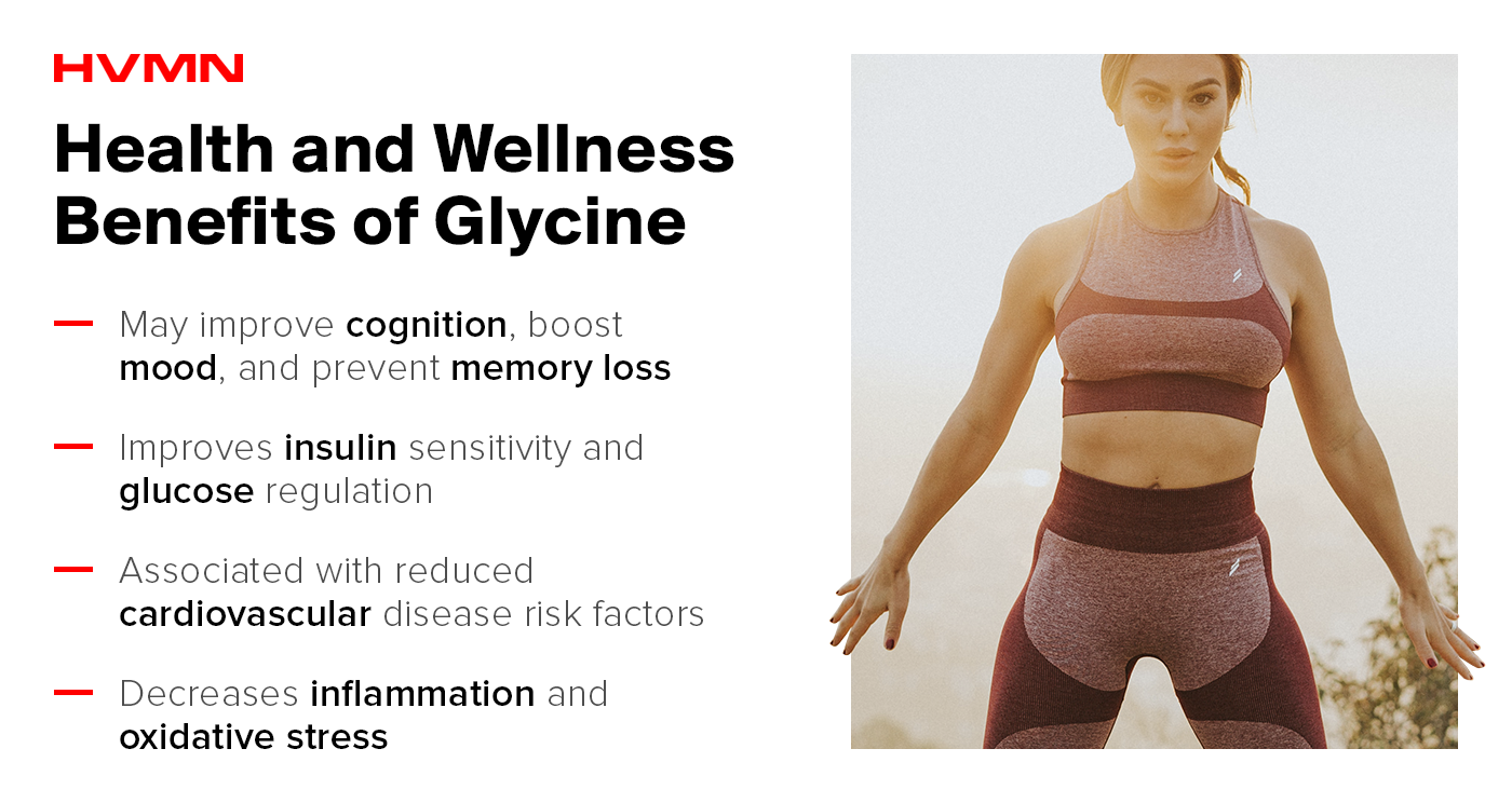 Health and wellness benefits of glycine.