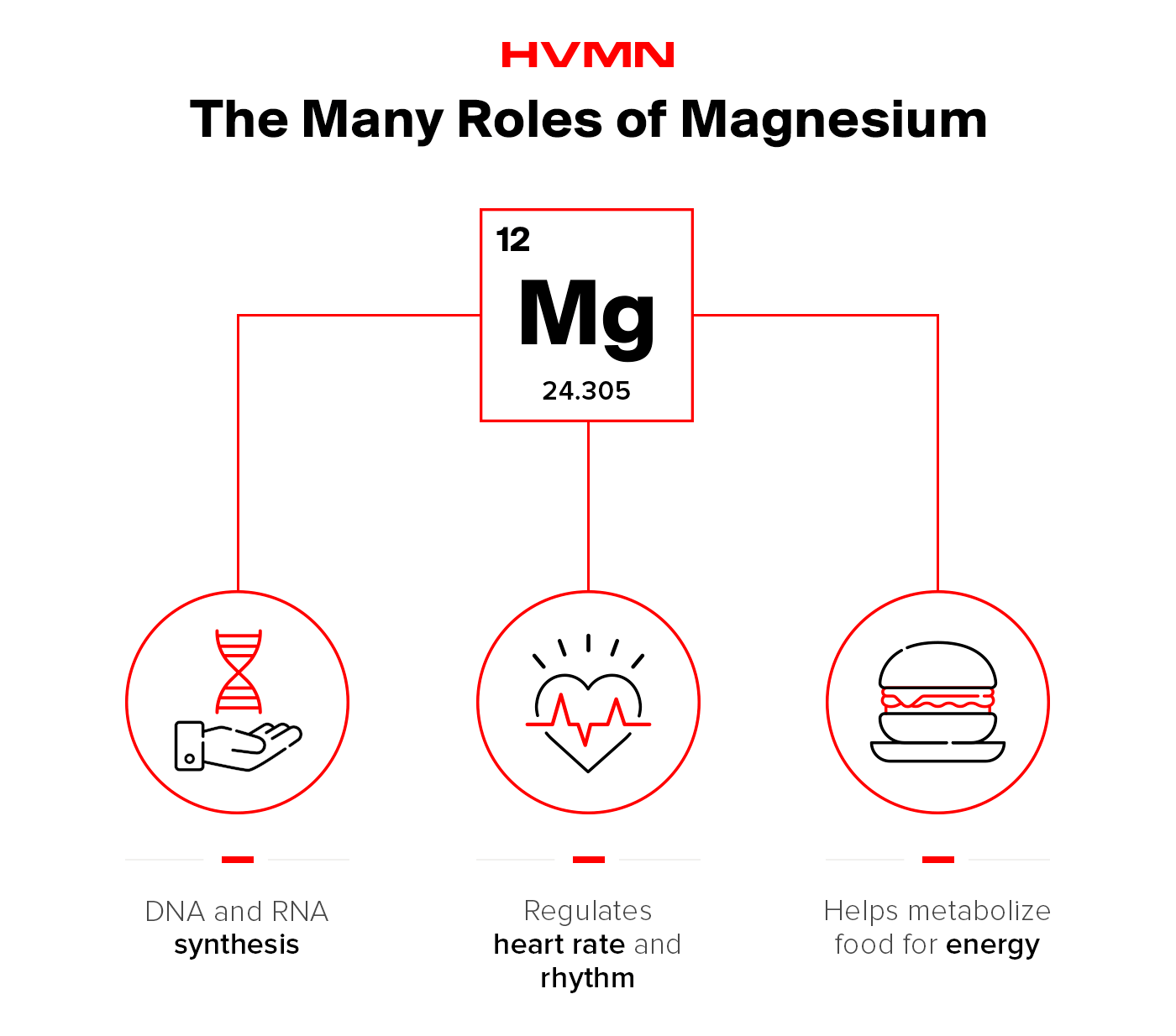 Magnesium plays many roles in the body.