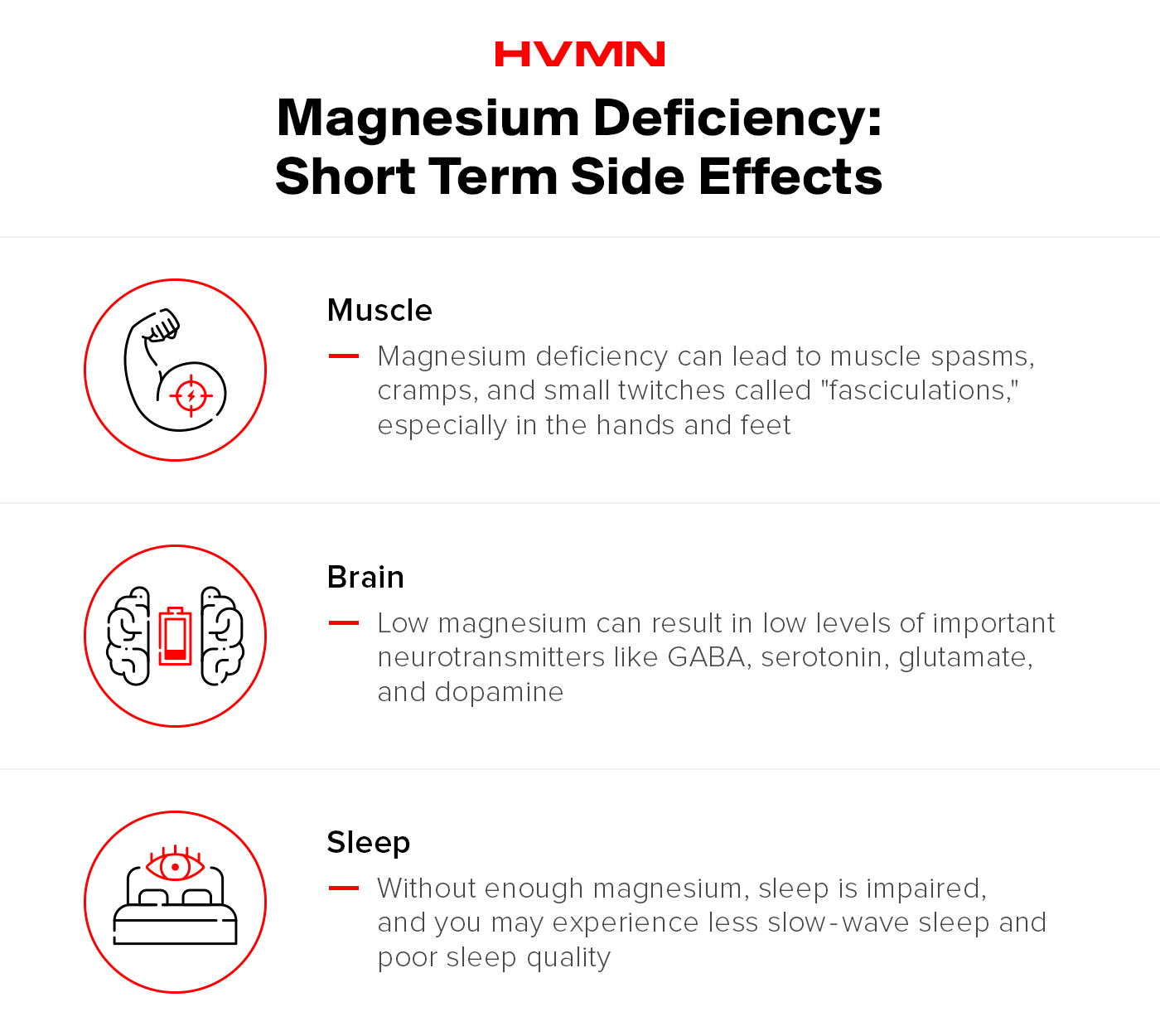 Short term side effects of magnesium supplementation.