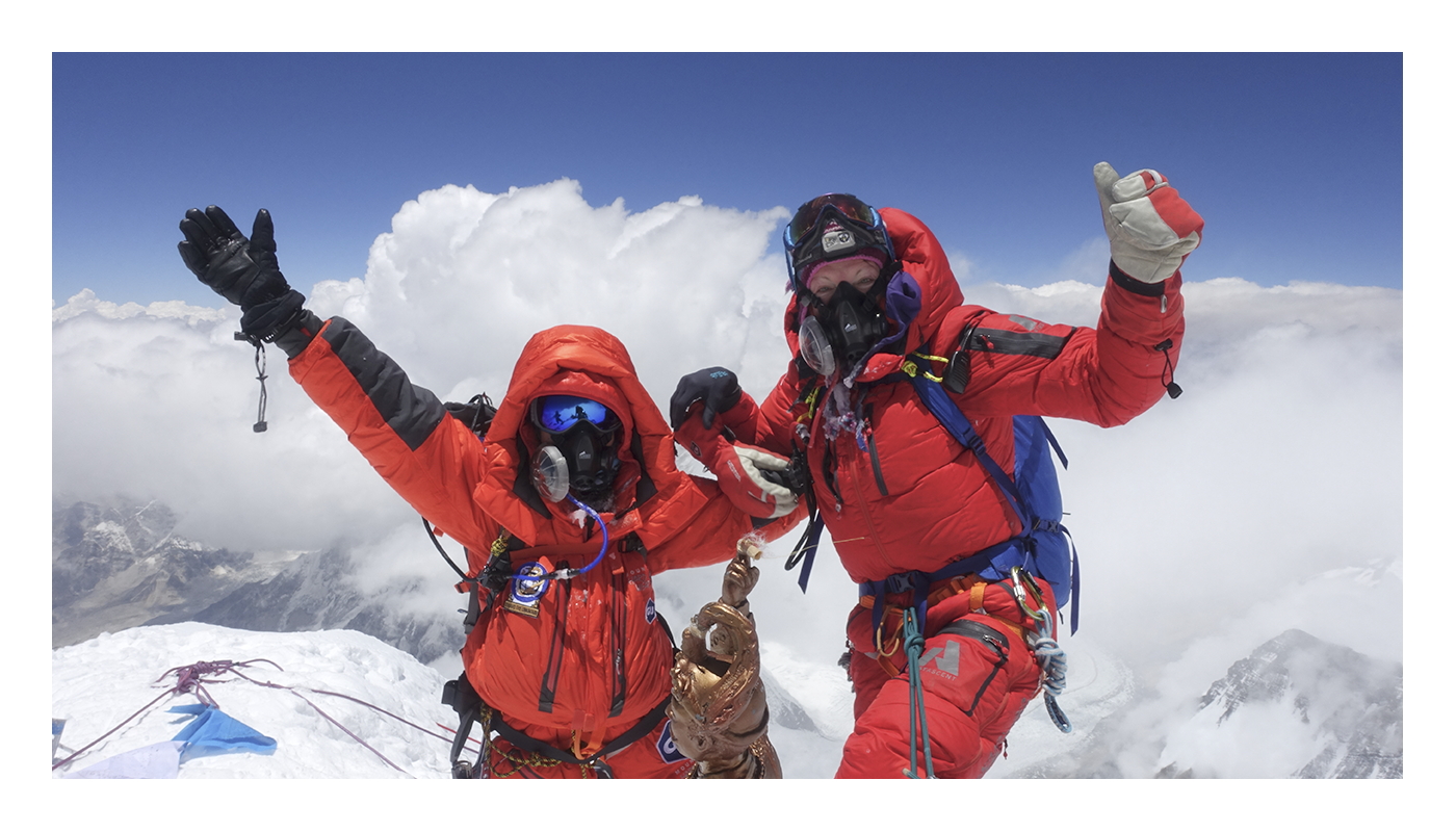 Roxanne and Lydia Bradey at the Everest summit