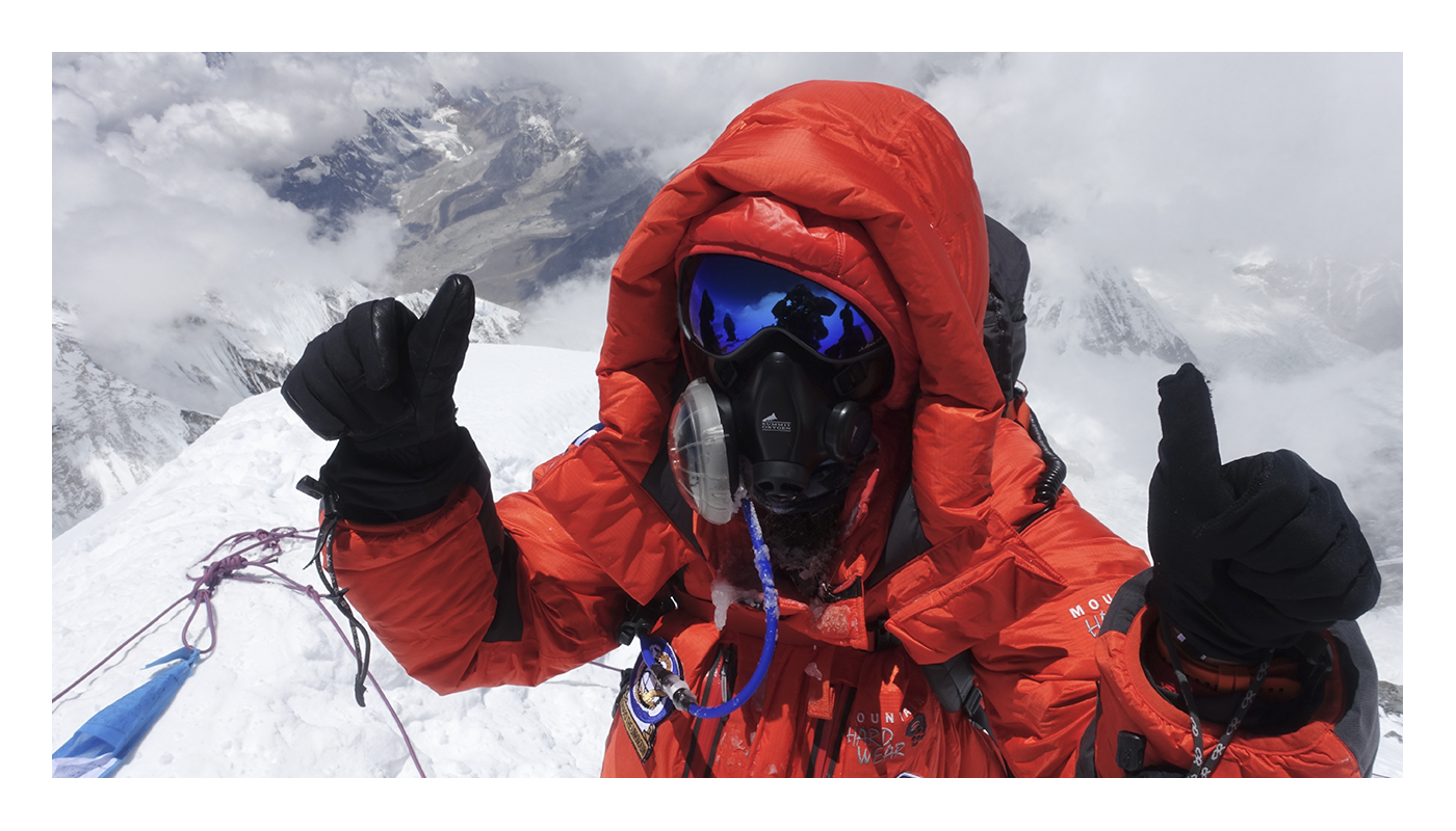 Roxanne at the Everest summit