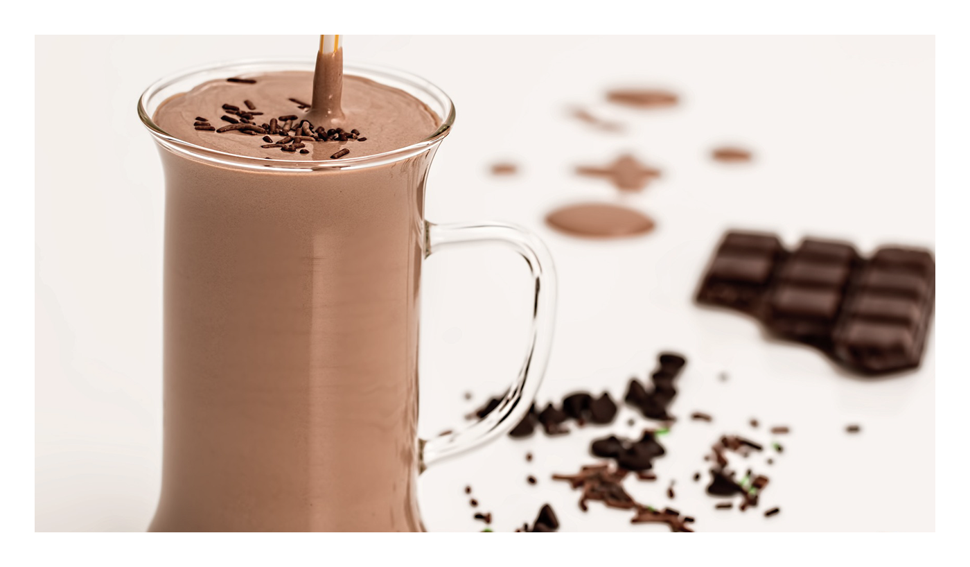 An image of chocolate smoothie