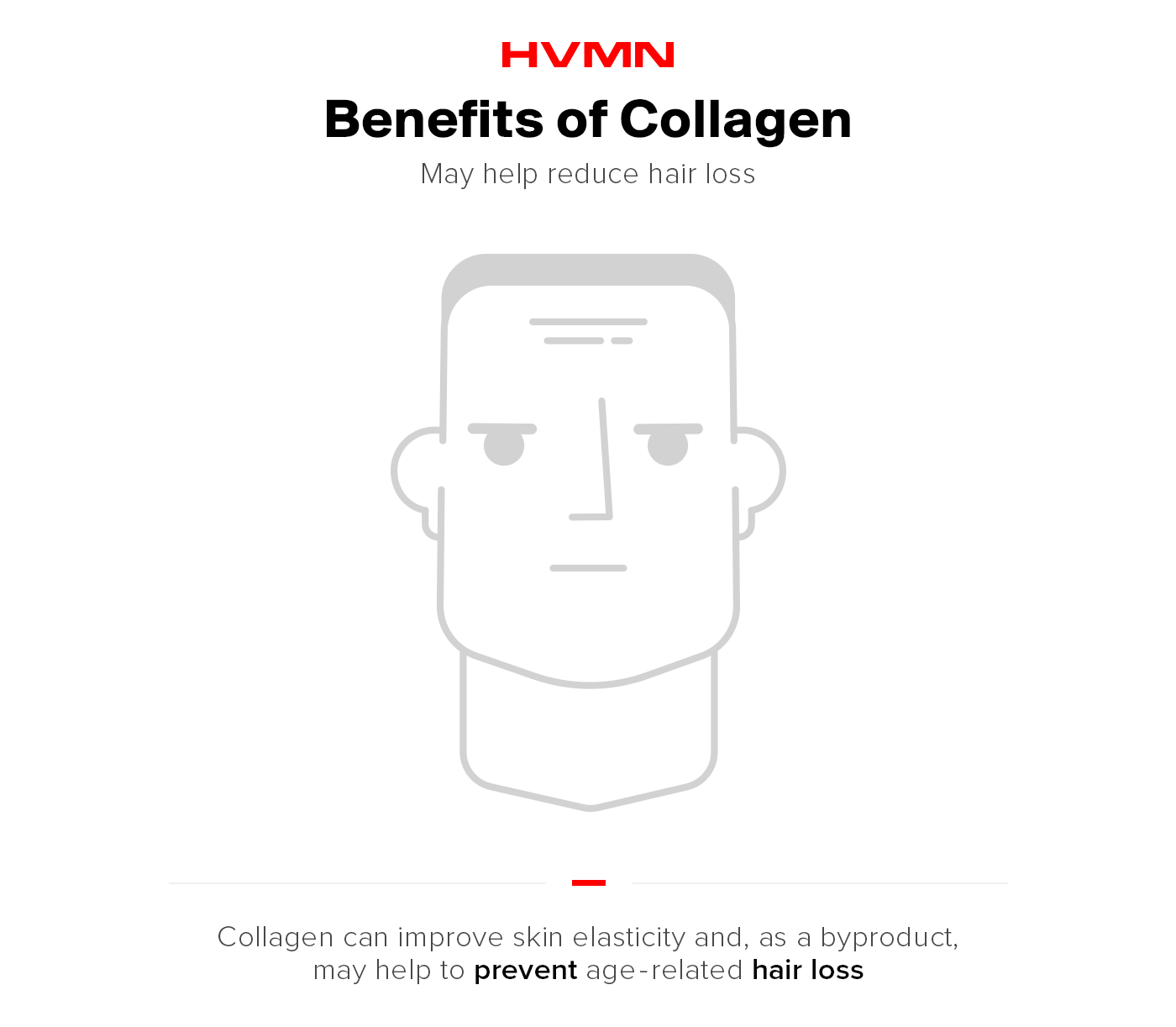 Benefits of collagen -- no more hair thinning.