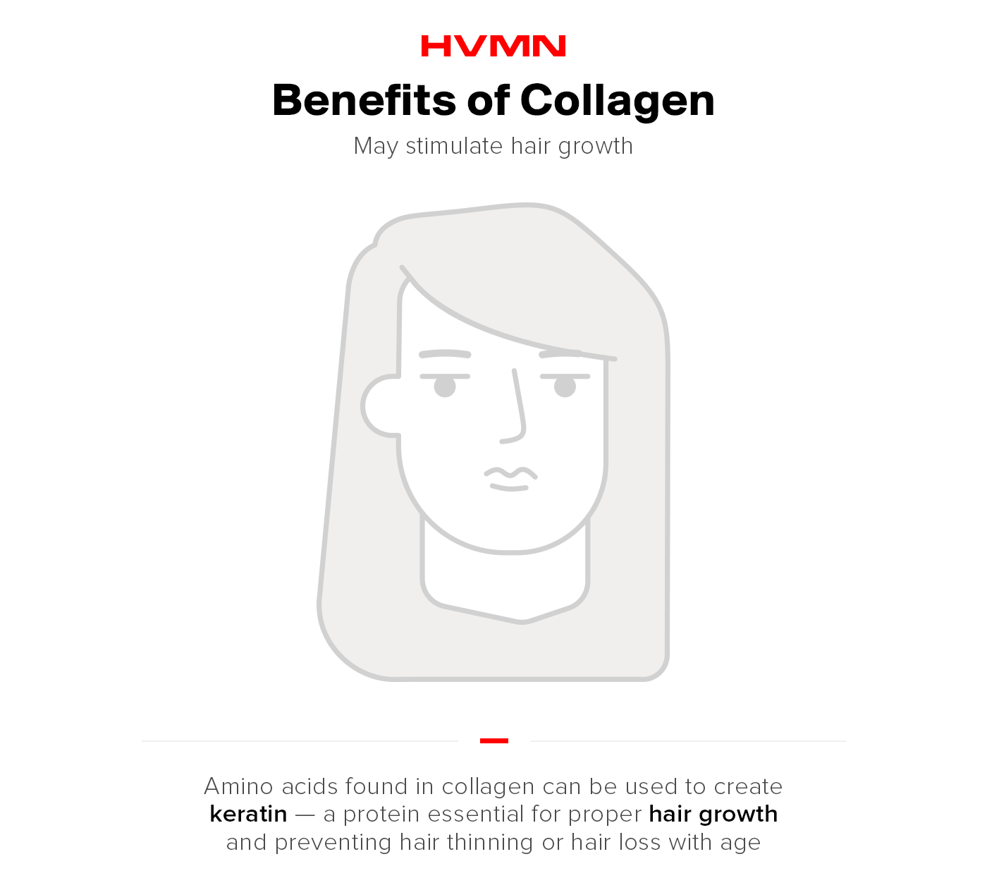 Benefits of collagen -- stimulated hair growth.