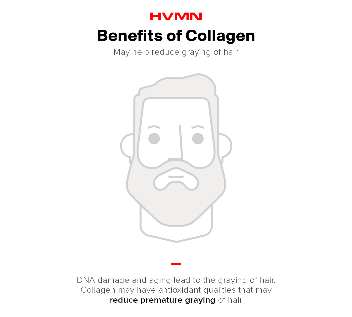 Benefits of collagen -- less grey hair.
