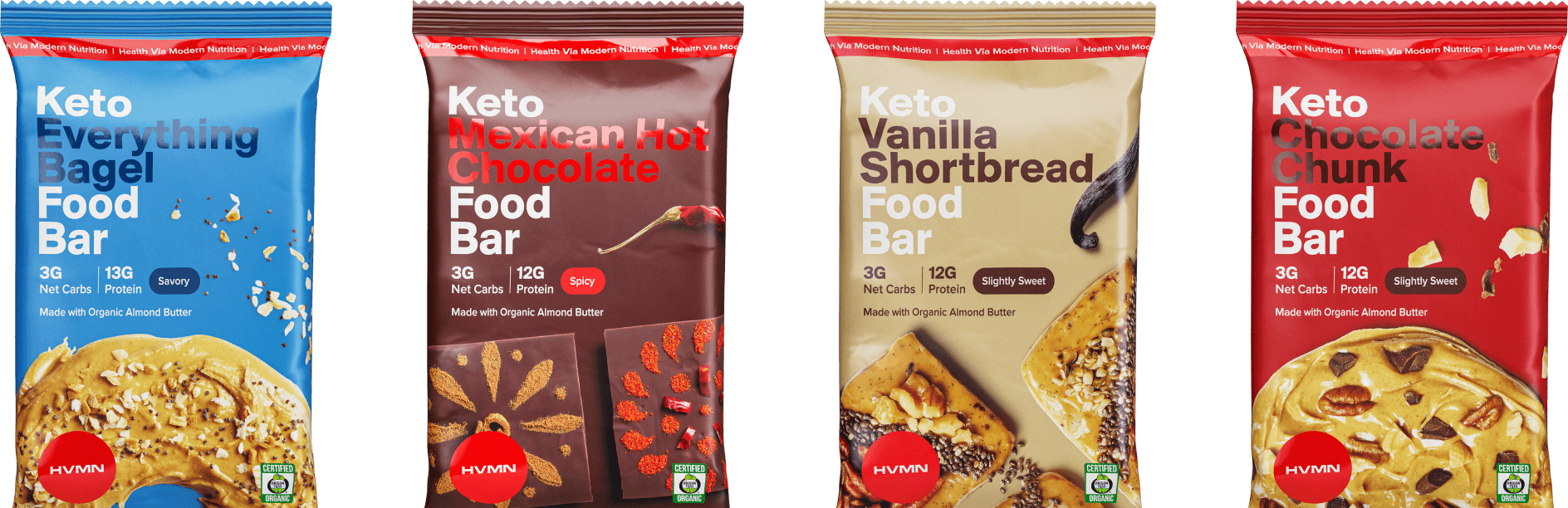 Keto Food Bar Flavors